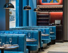 M Restaurant in London, Furniture provided by www.stylematters.co.uk