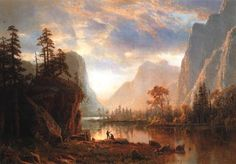 Yosemite Valley - Albert Bierstadt - #Hidson riiver School