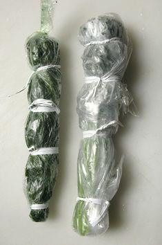 La meilleure façon de conserver des herbes aromatiques : Bâton pré-portionné d'herbe congelée - La Table de Diogène est Ronde