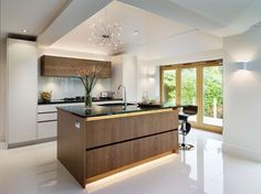 Modern Kitchen with LED strip lights