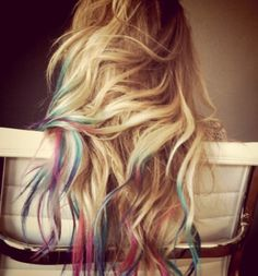 rainbow hair color - Bing Images