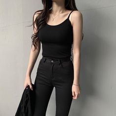 ─ 𝐜𝐫𝐮𝐧𝐜𝐡𝐜𝐫𝐮𝐧𝐜𝐡𝐢𝐞𝐬┆☼ Source by lenarathgeblr style Korean Fashion Trends, Korean Street Fashion, Korea Fashion, Asian Fashion, Look Fashion, Girl Fashion, Cute Casual Outfits, Edgy Outfits, Fashion Outfits