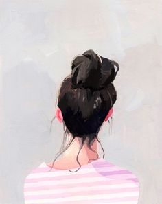 """top knot"" series by Elizabeth Mayville"