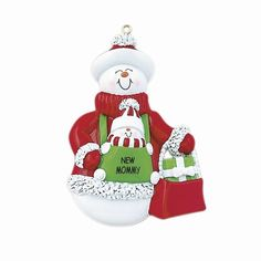 New Mommy Snowman Ornament - Item 525018 - The Christmas Mouse