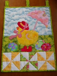 Easter Wallhanging Easter Quilt Patchwork by ComfyCosyCrafts