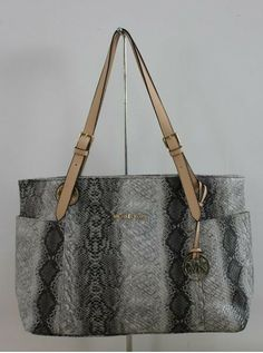 Love me some Michael more bags Michael Michael Kors Jet Set Zip-top Tote Natural Python-stamped Leather Michael Kors Jet Set, Michael Kors Handbags Outlet, Python, Perfect Date, Mk Bags, Fashion Beauty, Tote Bag, Zip, My Style