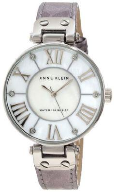 Anne Klein Women's AK/1013MPSI Leather Silver-Tone Snake Print Watch - AK/1013MPSI, Anne, Klein, Leather, Print, Silvertone, Snake, Watch, Women's - http://designerjewelrygalleria.com/anne-klein-jewelry/anne-klein-womens-ak1013mpsi-leather-silver-tone-snake-print-watch/