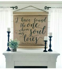 like the scroll would do different quote Shabby Chic Farmhouse, Farmhouse Style Decorating, Farmhouse Decor, Rustic Romantic Bedroom, Shabby Chic Bedrooms, Art Prints Quotes, Diy Signs, My Dream Home, Home Accessories