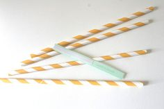 DIY Straw Flags with Printable Template - Tutorial - Polka Dot Bride