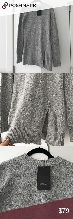Zara brand new long sweater dress with v cut S Zara brand new long sweater dress with bottom v cut on the side. Super cute size Small - new with tags. 🙅🏻 PLEASE DO NOT ASK LOWEST PRICE 🙅🏻 ------------ Instead ---------------- ✅ USE OFFER BUTTON ✅ --------😐 no low balling please😐-------- 💁🏻 NO DRAMA HERE LETS BE NICE 🤗 🚫🚭 SMOKE FREE - PET FREE HOME 🚫🐾 👉 NO TRADES 👈 Zara Dresses Mini
