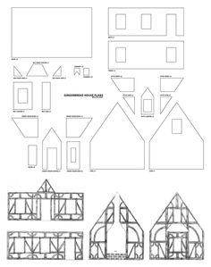Gingerbread House Plans By Melissagraf On Deviantart