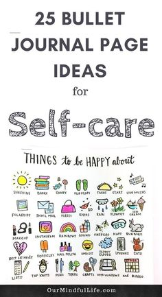 11 Amazing Bullet Journal Ideas That Cultivate Self-care -Our Mindful Life 25 Bu. - 11 Amazing Bullet Journal Ideas That Cultivate Self-care -Our Mindful Life 25 Bullet Journal Page I - Self Care Bullet Journal, Bullet Journal Hacks, Bullet Journal Printables, Bullet Journal Notebook, Bullet Journal Aesthetic, Bullet Journal Spread, Bullet Journal Layout, Love Journal, Bullet Journal Inspiration