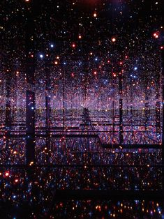 Yayoi Kusama has been working out her obsession with polka dots and infinity over a decades long career. Suffering from hallucinations and residing in a Japanese psychiatric institution, she uses art as a way to communicate her visions. For her current retrospective at the Tate Modern she has created Filled with the Brilliance of Life, her largest infinity room yet. Made up of hundreds of lights and mirrors, it must be dazzling to see in person. It will be on display through June 5.