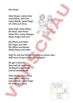 www.unterrichtsmaterial.ch - Diverses / Fächerübergreifend - Anderes Thema - Mein-Körper-Lied - (Arbeitsblätter, Lektionsreihen, Nachhilfe-Material, Prüfungen/Lernkontrollen, Schulmaterial, Unterrichtshilfen) für die Schule (Lehrerinnen und Lehrer, Eltern, Schüler)