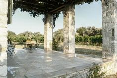 Gallery: A cozy cottage retreat in the Turkish countryside Stone Cottages, Stone Columns, Patio Flooring, Village Houses, Cozy Cottage, Countryside, Building A House, Vacation, Outdoor Decor