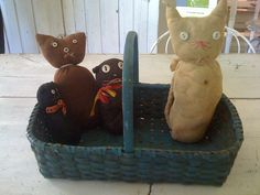 19Th C Grouping of sock kitties..
