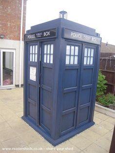 TARDIS Garden Shed -- Lights up!