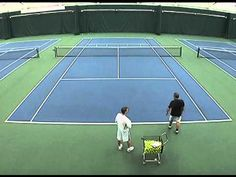 In this Instruction Video, tennis pro Jorge Capestany demonstrates to BTN Editor Chris Wright how to improve the accuracy of one's serve. Jorge also explains. Tennis Doubles, Tennis Tips, Drills, Drill