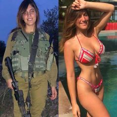 These gorgeous women look just as sexy out of uniform as they do in it. Idf Women, Military Women, Sexy Outfits, Sexy Bikini, Military Girl, Female Soldier, Mädchen In Bikinis, Girls Uniforms, Sexy Hot Girls