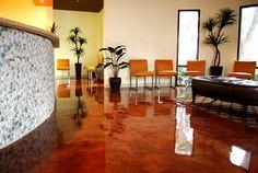 red concrete (floor)