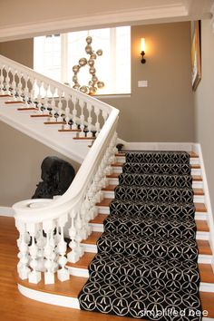 San Francisco Decorator Showcase Foyer - great stair runner