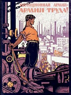 Russian poster for the worker, 1920