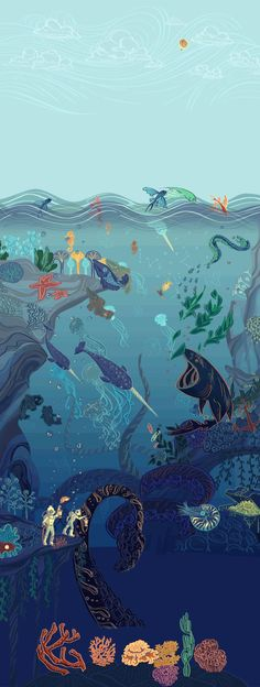 Post with 2210 views. Jules Verne, Doodle Background, Smoke Painting, Google Doodles, Sea Art, Environment Concept Art, Phone Backgrounds, Art Google, Under The Sea