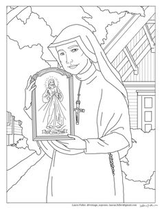 faustina divine mercy coloring page divine mercy for moms