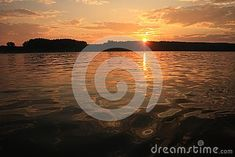 Photo about A colorful view of a Sunset above the shore horizon viewed from a boat on the water. Image of landscape, clouds, shore - 106735606 Sunrise, Boat, Colorful, Celestial, Stock Photos, Water, Photography, Outdoor, Image