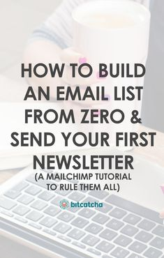 How to Build an Email List From Zero & Send Your First Newsletter: A MailChimp T - Email Marketing - Start your email marketing Now. - How to Build an Email List From Zero & Send Your First Newsletter: A MailChimp Tutorial To Rule Them All Social Marketing, Affiliate Marketing, Marketing Website, Marketing Direct, Email Marketing Design, Email Marketing Campaign, Email Marketing Strategy, Marketing Tools, Email Design