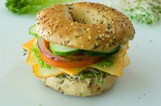 Veggie & Cheese Bagel | The Pioneer Woman Cooks | Ree Drummond - I love these might need to get the stuff and make them this week.