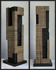 Alban LANORE / Petite colonne rainurée / chêne.