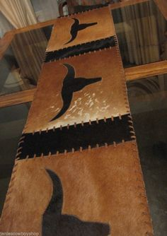 Cowhide Table Runner House Western Decor Home Decor