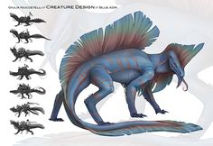 Draw Creatures This is a concept did for a school project. They give to us a simple description of all creatures, characters, enviroment etc.and then we draw everythi. Magic Creatures, Mythical Creatures Art, Alien Creatures, Fantasy Creatures, Alien Concept Art, Creature Concept Art, Creature Design, Fantasy Monster, Monster Art