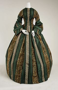 Dress - Dress Date: ca. 1857 Culture: American Medium: [no medium available] Dimensions: [no dimensions available] Credit Line: Gift of Miss Claire Lorraine Wilson, 1942