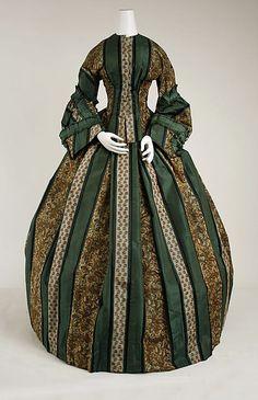 Dress - Dress Date: ca. 1857 Culture: American Medium: [no medium available] Dimensions: [no dimensions available] Credit Line: Gift of Miss Claire Lorraine Wilson, 1942