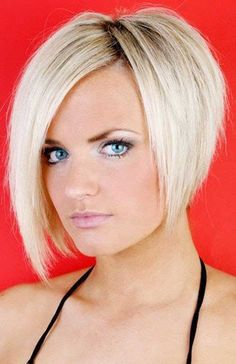 bob hairstyles 2014 for women | Girls in bob haircut and with a blonde hair color give a cute and ...