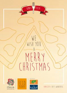We wish you a Merry Christmas!!! EP s.p.a e Sire Ricevimenti d'Autore #EccoPizzaePasta #Christmas
