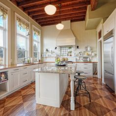 The DIY winners of our 2013 Whole House Reader Remodel Contest boast that they bought most of the materials on Craig's List including the kitchen cabinets which they repainted), the appliances, and even the wood floors.| thisoldhouse.com/yourTOH