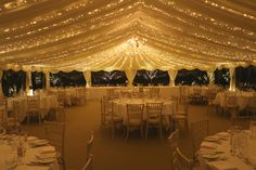 Marquee wedding decor Ardington House stately home wedding