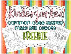 Little Minds at Work: Common Core math skills checks