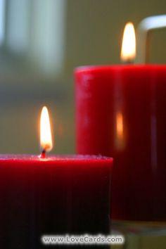 Amor, luz e velas: Click here to send this FREE LoveCard.