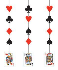 Card Night Hanging Cutouts