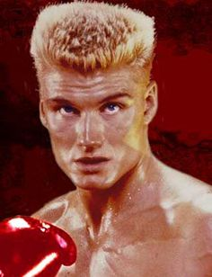 Dolph Lundgren as Ivan Drago. Grace Jones, Rocky Balboa, Bobby Brown, Rocky Stallone, Classic Mens Hairstyles, Men's Hairstyles, Rocky Film, Flat Top Haircut, Afro Curls