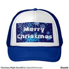 Christmas Night Snowfall Trucker Hat