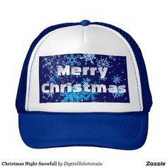 Christmas Night Snowfall Trucker Hat