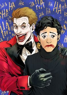 Gotham - Jerome Valeska Bruce Wayne (Cameron Monaghan David Mazouz) Art by: ? Gotham Comics, Gotham Joker, Gotham Tv, Joker Art, Batman Comics, Joker And Harley Quinn, Dc Comics, Gotham Show, Otp
