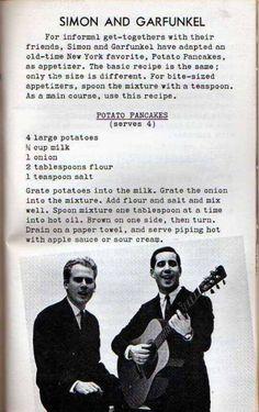 Simon and Garfunkel Potato Pancakes