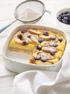 Apple-Lemon Bread Pudding