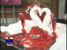 http://foldingmagic.com Cruise Ship Towel Origami Animals. Valentine's Day ideas. How to make a heart shaped swan.